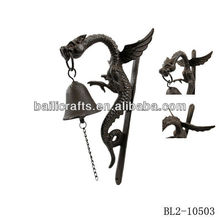 Cheap cast iron dragon hanging shocking decor door bell