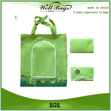 Verde promocional recycled bag folding
