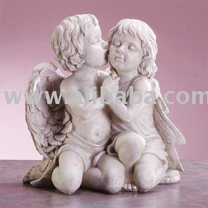 ALABASTRITE KISSING CHERUBS FOUNTAIN[34262] Item #: 519