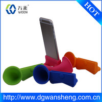 rubber amplifier horn stand speaker/factory silicone case for iphone 6 with good quality