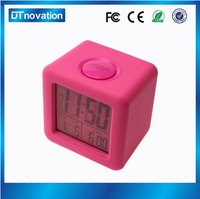 Small battery thermometer LED digital table alarm Clock