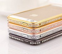 2017 New Fashion Noble Fancy Custom Shiny Designer Cell Diamond Phone Cover Wholesale Metal Cheap Factory Price Made in China