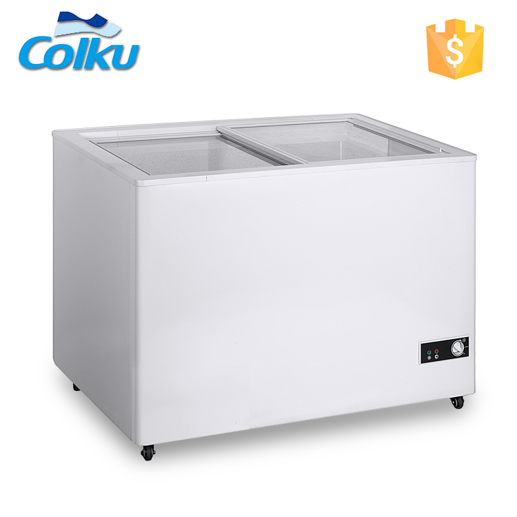 DC-250FG Glass Door Foshan Colku Store Sales Freezer Cheapest Price