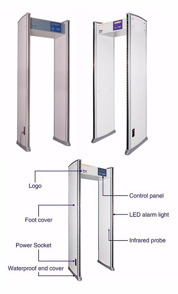 XYT2101A2 Design Door High Precision and Sensitivity Walk Through Metal Detector, Security Door