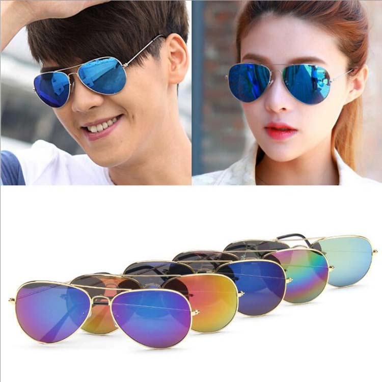 Plastic Lenses Material and Unisexual Age cheap aviator sunglasses
