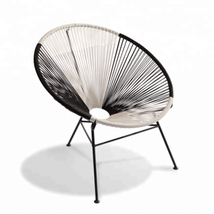 outdoor rattan chair metal woven chair outdoor acapulco chair