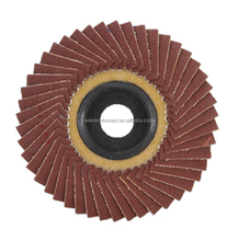"Low price 4""/ 100mm*16mm Abrasive Flap wheel Aluminum Oxide Emery Cloth overlapped Abrasive Sanding Discs for polishing 72Flaps"