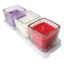 Three-wick aroma candle / scented soybean candle in glass jar Nancy whatsapp:0086 15097479316