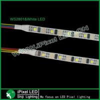 5050 Waterproof Ws2801 Led Strip 5v 32leds/m White Or Black pcb