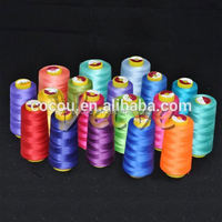 2015 hot sale super bright high tenacity fiber 19/2 pp core spun sewing thread polyester yarn sewing thread 40/2