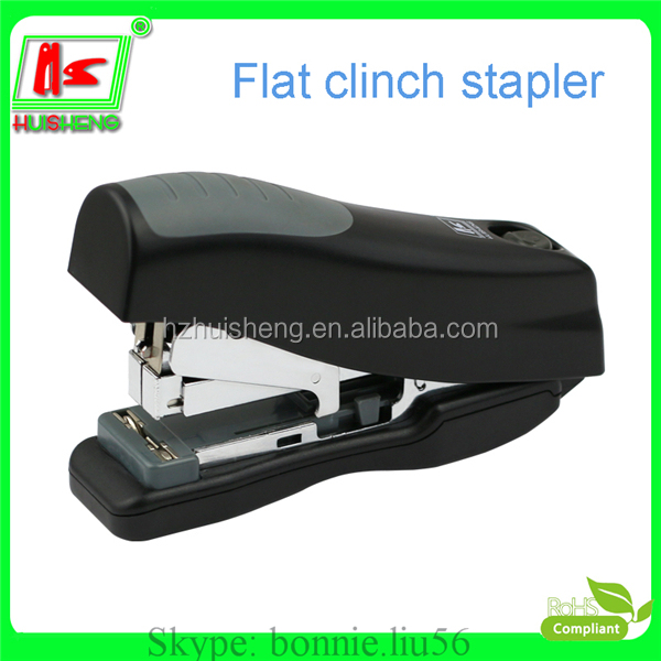 saving power standard stapler type flat clinch staplers for 24/6 26/6 staple