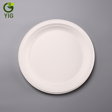 9 Inch Biodegradable Sugarcane Disposable Round <strong>Plates</strong>