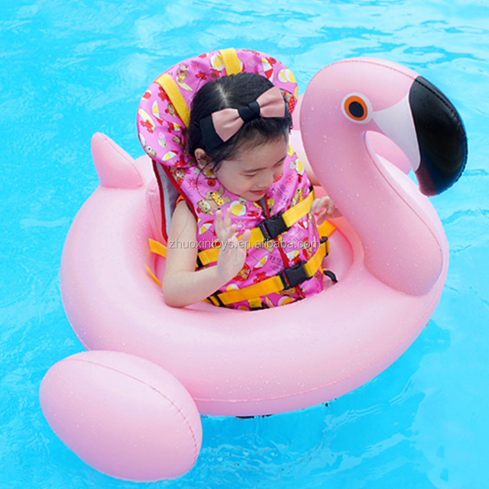 Animal Baby Rider Pink Baby Float Flamingo