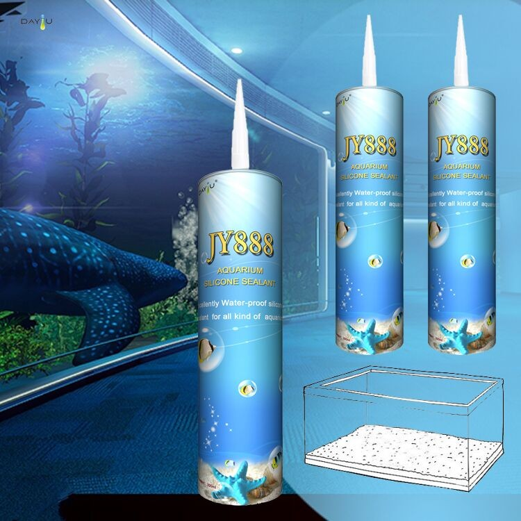 High quality JY888 acetic adhesives and glues for aquarium glass sealing silicone sealant