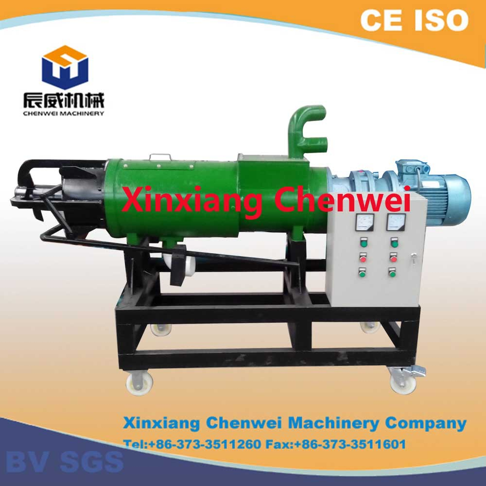Electric or diesel animal dung/manure dewatering screw press machine for biogas/livestock manure dewatering by Chenwei Machinery
