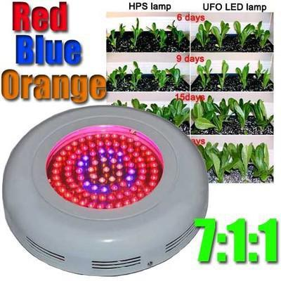 New White 135w UFO LED Grow Light with 45 x 3w Leds for lettuce leafy vegetables