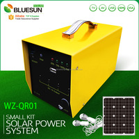 Camping solar kits hot selling 12V 10W portable solar kit with 2 lights and mobile phone charger