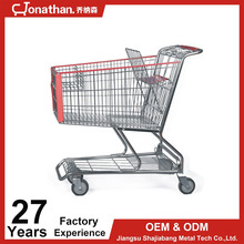 180L Amercian Style Supermarket Shopping Carts Type Trolleys