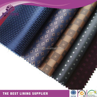 garment anti-static polyester cationic two tone lining fabric