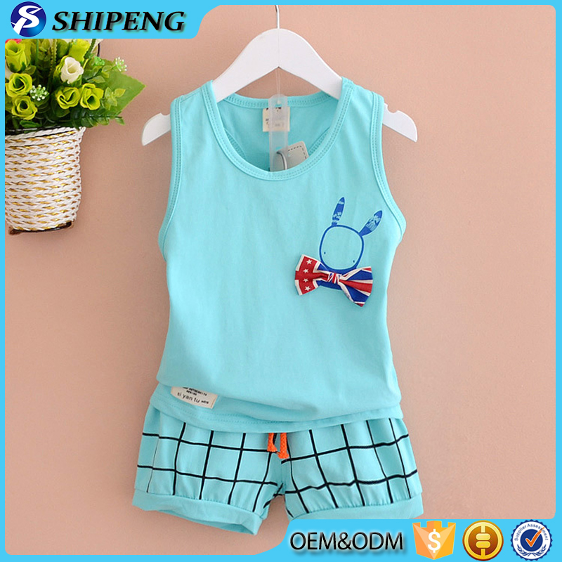 Children outfits toddler boy summer clothing sets 2 Piece tank set