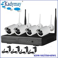 Cheap and popular HD 720P/ 1080P Waterproof Wifi Outdoor h.264 ip camera 4channel NVR KIT