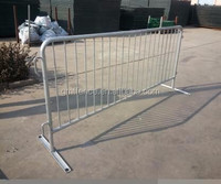 High quality Orange Crowd Control Fencing/Green Leaf Barrier fence/concert crowd control barrier