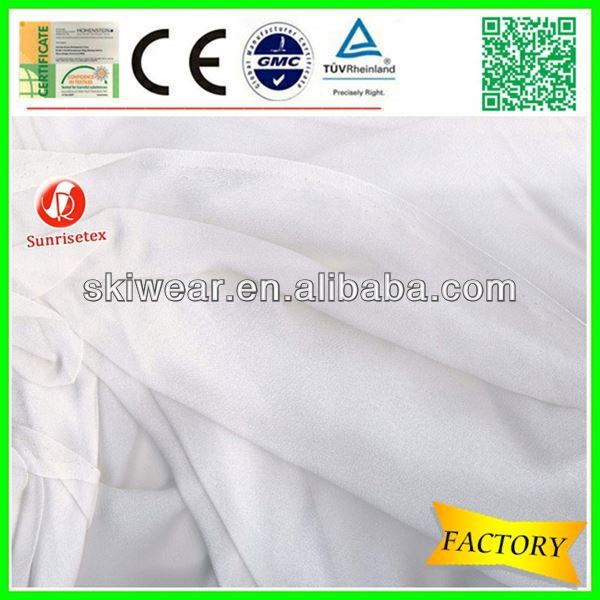 lightweight silk chiffon fabric metallic factory stock