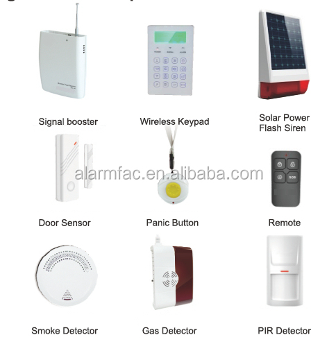 99 wireless defence zones New Advanced GSM Smart Alarm System with RFID Card Voice Message(YL-007M2G)
