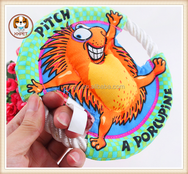 Pet dog toys United States Cotton rope chew toys for dogs Frisbee toy 16 cm