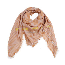 geometry printing fashion china factory sale viscose polyester wholesale custom scarf