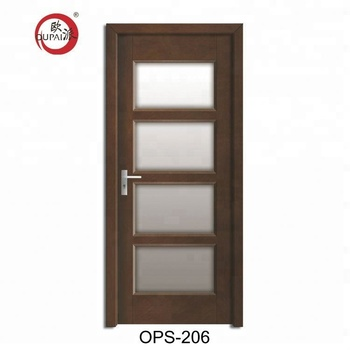 Fancy Design Cheap Price Kitchen Bathroom Office Wood Interior Door With Inserts Frosted Glass