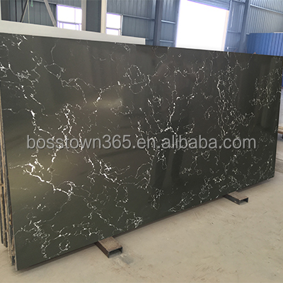 Chinese Best Quality Artificial Engineered Black Quartz Stone