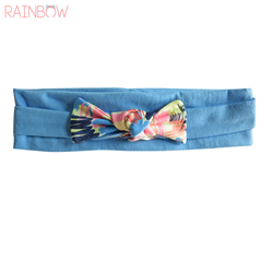 2018 AW New Custom Printed Cotton Bow Headbands for girls