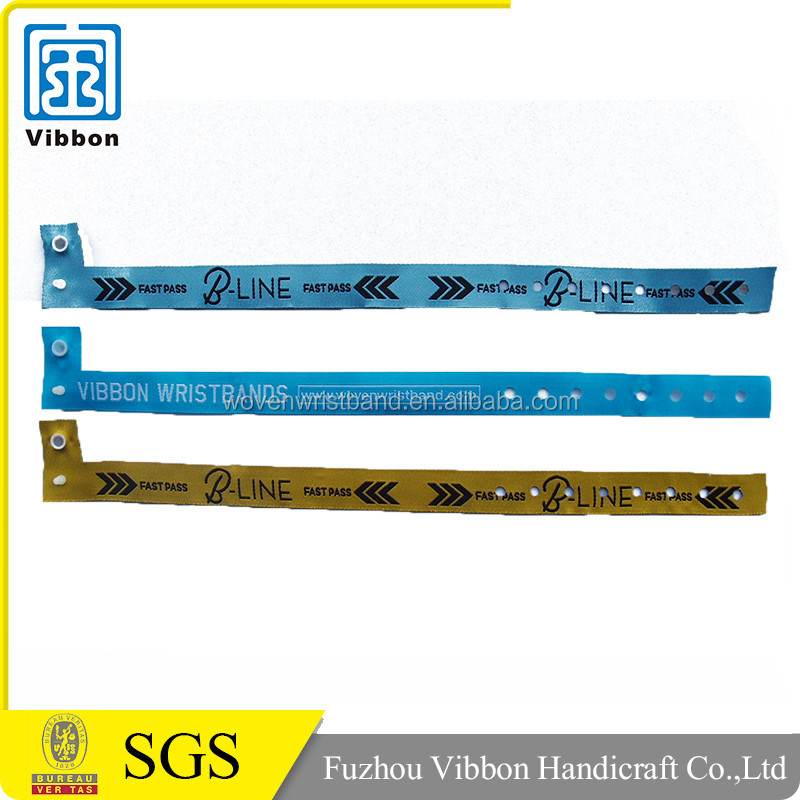 Cheap Custom Festival Woven Fabric Wristband for Promotion Gift
