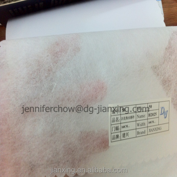 Hot Water soluble paper PVA fabric for embroidery backing