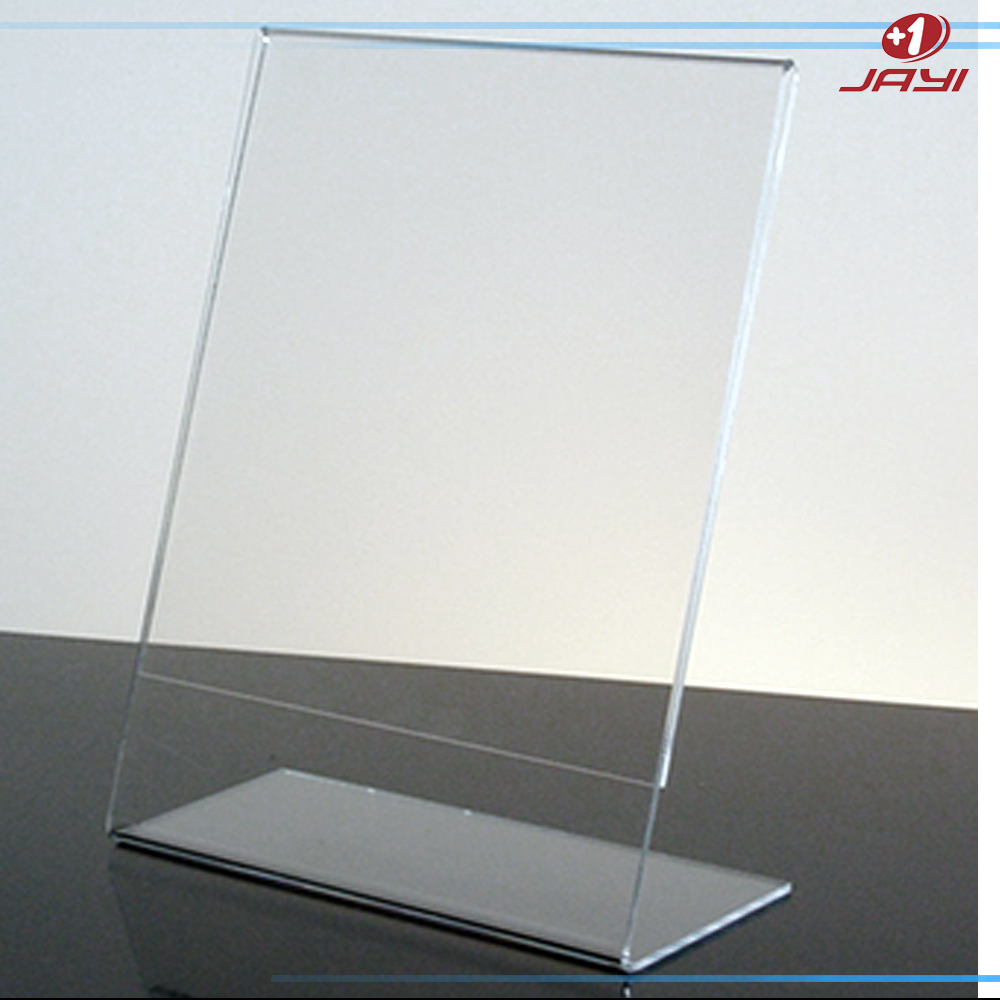 A3 A4 A5 Clear Acrylic Free Standing Sign Holders