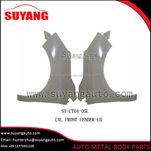 Hot selling steel front fender panel for Citroen C4L auto body parts