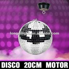 """ ROTATING DISCO BALL CEILING MOUNT SILVER 1.5RPM MOTOR SPINNING PARTY DECOR"