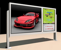 Outdoor Advertising Light Box / Scrolling Advertising board/Aluminum profile light box