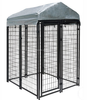 classic galvanized outdoor dog kennel / large outdoor dog pen