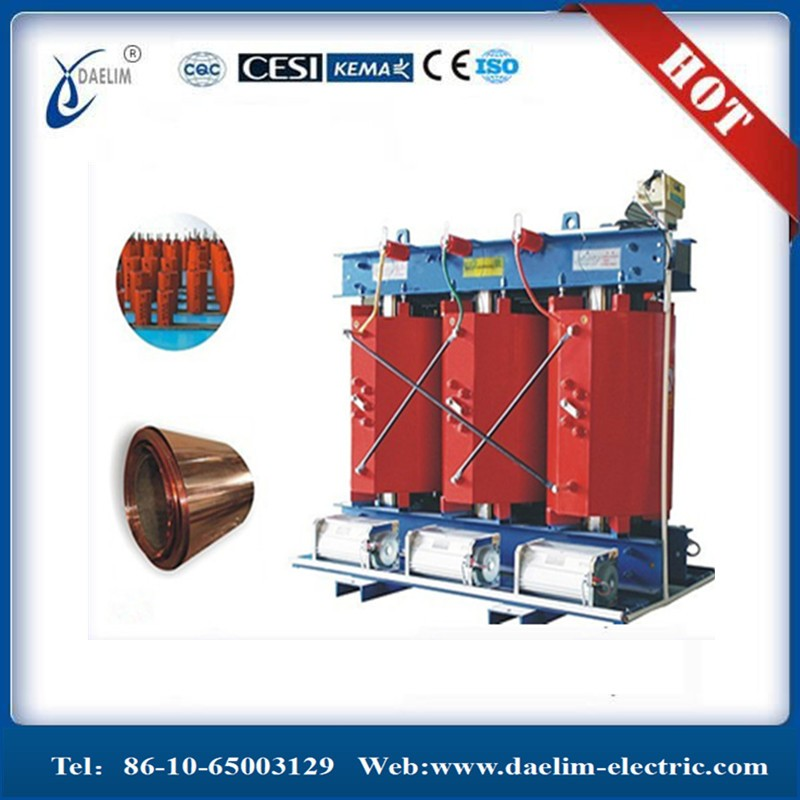 High Efficiency 10kv to 6kv 2500kva Dry Type Transformer with Price
