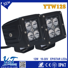 Compact 12W led car light, offroad driving car led lamp, led working light for 4WD 4X4 ATV Snow mobile off road light