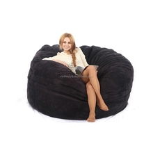 Good quality Microsuede cover foam bean bag, North America style extral big soft fashion beanbag