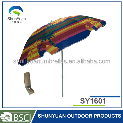 SY1601 steel frame high quality outdoor sun Windproof beach umbrella