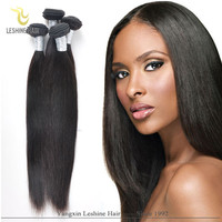 Good Feedback Wholesale Price Top Quality Double Weft straight human hair ponytail with claw clips