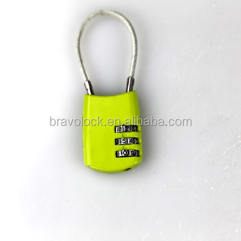cable combination padlock 3 digit