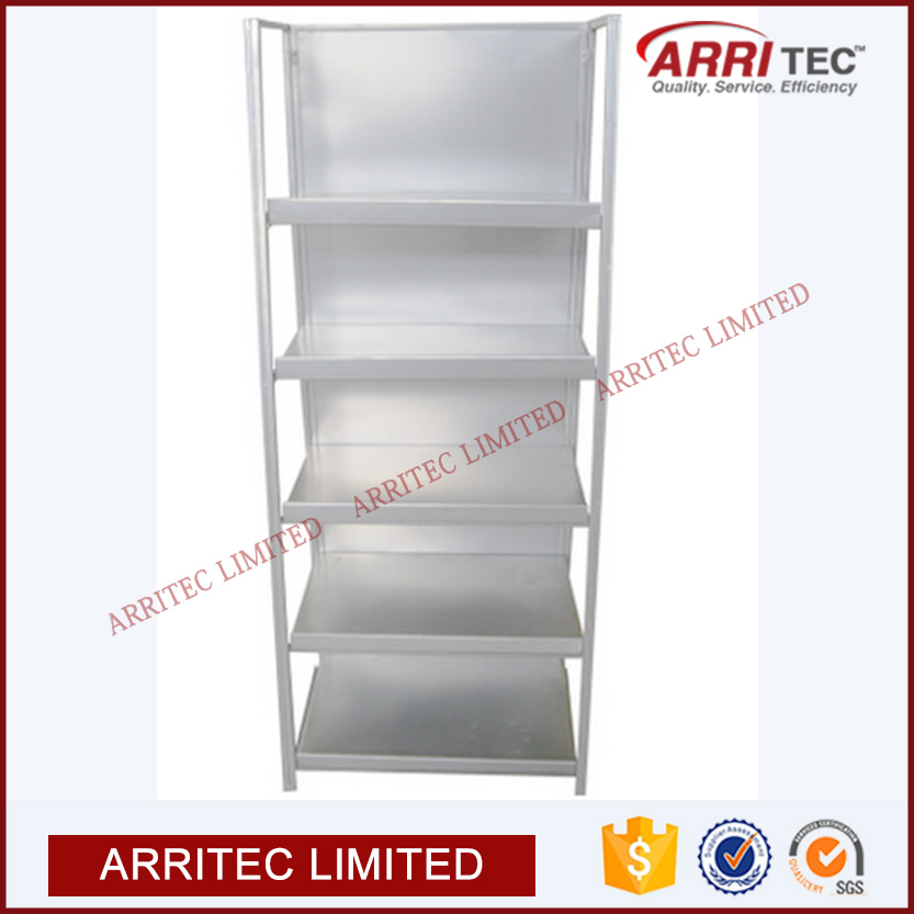 sheet plate shelf metal display rack supermarket retail store restaurant hotel warehouse heavy duty flooring 5 Trays Metal Stand