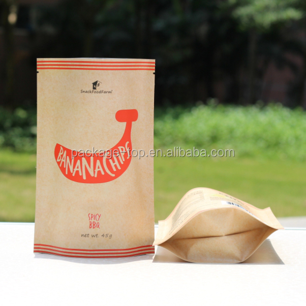 craft paper bag for french fries, hamburgers packaging