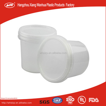 1L white round bucket for paint,coating,etc