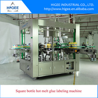 HG Automatic Pet Glass Round Irregular Square Water Bottle Manual Hot Wet Melt Glue Sticker labeling machine